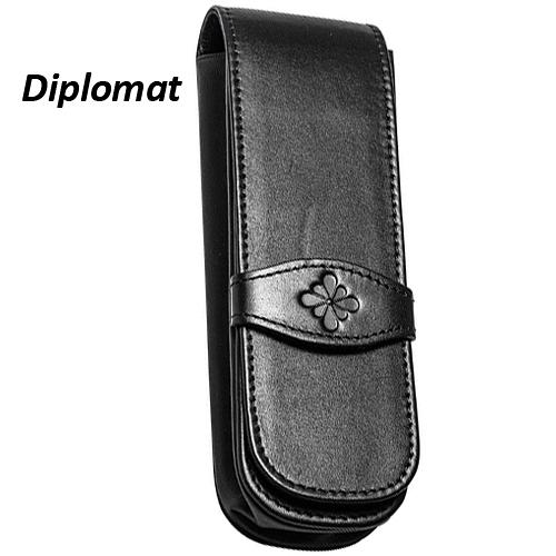 Diplomat 迪波曼牛皮雙支筆套
