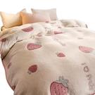 毛毯被子夏季薄款珊瑚絨小毯子