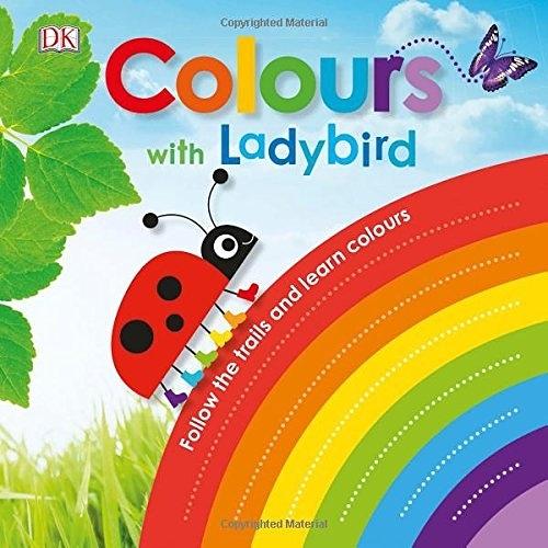 【麥克書店】COLOURS WITH A LADYBIRD /硬頁觸摸書《主題:顏色.動物》