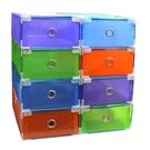 【GC140】包邊抽屜式鞋盒2入 彩色鞋盒 透明鞋盒/收納鞋盒/收納盒 EZGO商城