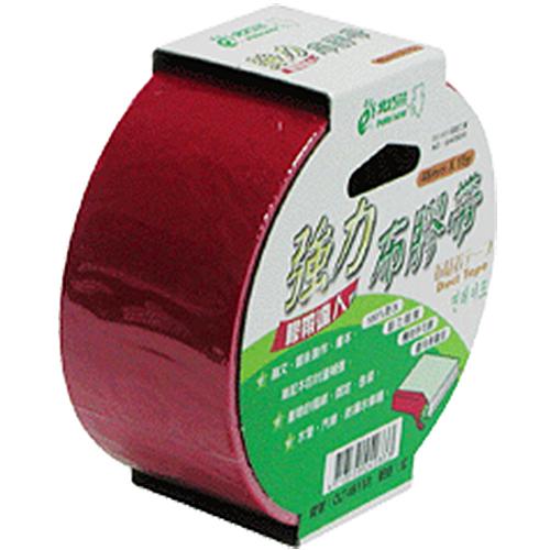 【奇奇文具】北極熊 CLT4815R紅色布紋膠帶48mm×15yds (6卷)