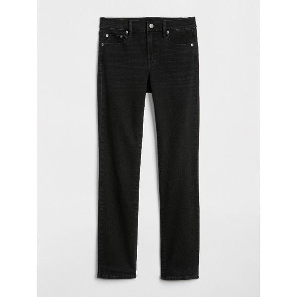Gap女裝 水洗中腰直筒牛仔褲 384152-灰黑色