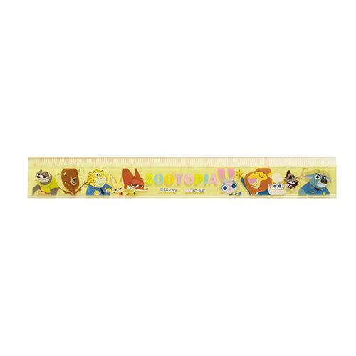 《sun-star》動物方城市15cm塑膠直尺(Q版集合黃)★funbox生活用品★_UA48642