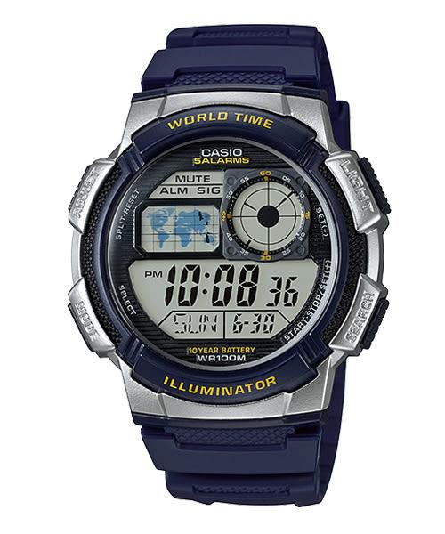 【CASIO宏崑時計】CASIO卡西歐十年電池運動電子錶 AE-1000W-2A 100米防水 台灣卡西歐保固一年