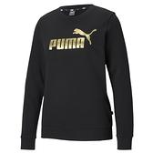 Puma Ess 女款 黑色 長袖 圓領 棉T 運動 休閒 保暖 長袖上衣 58689401