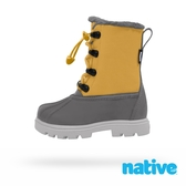 native 小童鞋 JIMMY 3.0 小獵鴨靴芥末黃x灰