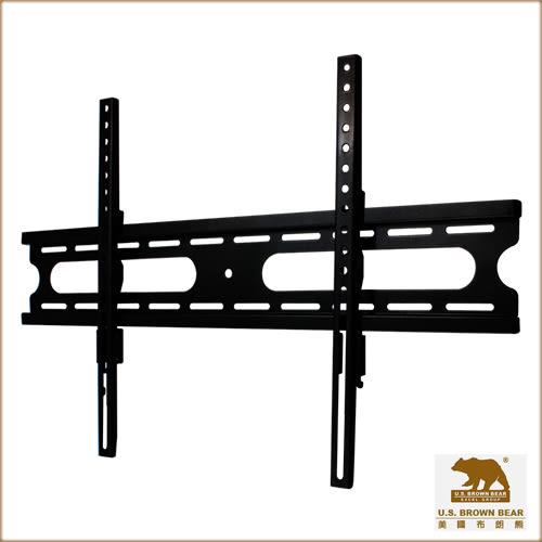 【第一代商品出清】美國布朗熊 W4-63F 牆板固定式-適用37吋~65吋電視壁掛架