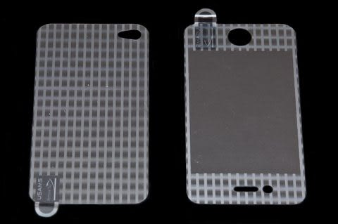 USAMS 3D 雷射Laser 高耐磨 手機螢幕保護貼 Apple iPhone 4S 線條 (二片裝)