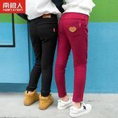 店長推薦 2018秋冬裝新款女童打底褲加絨加厚女寶寶冬季兒童牛仔長褲子外穿