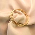 三生三世手鐲沙金時尚百搭手環韓版潮流鈦鋼黃金色飾品簡約輕奢