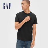 Gap男裝簡約風格圓領短袖T恤492343-正黑色