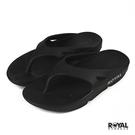 Royal 黑色 橡膠 防水 蹺蹺板 夾腳拖鞋 女款 NO.I6808【新竹皇家】
