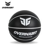 OVERHABIT吸濕防滑室內外場成人皮質比賽7號街頭紅色籃球