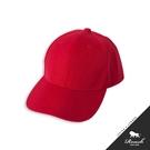 基本款素面棒球帽-【紅】
