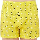 SOLIS-麋鹿公仔系列S-XXL純棉寬鬆四角褲(鵝黃色)