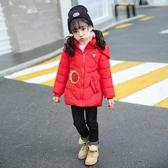 2女童棉衣棉襖新款春裝中小童嬰兒羽絨棉服寶寶加厚中長款外套6歲 藍嵐