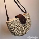 草編包洋氣女包新款潮韓版百搭編織側背斜背高級感小包包 黛尼時尚精品