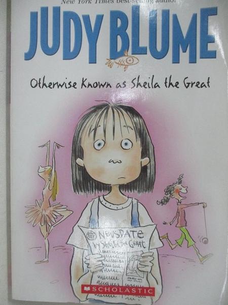 【書寶二手書T6/原文小說_HM3】Otherwise Known As Sheila the Great_Judy Blume