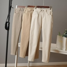 老爹褲女夏季2021年新款休閒褲韓版米色哈倫褲寬鬆九分蘿卜褲子女 果果輕時尚
