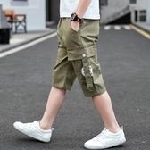 男童兒童夏季裝帥氣薄款外穿工裝運動短褲子中大童男孩五分中褲潮 快速出貨