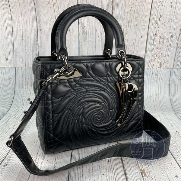 BRAND楓月 Christian Dior 迪奧 暗黑 玫瑰 黛妃包 Dior Lady Art  藝術家限量系列