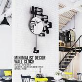 掛鐘 石英鐘現代簡約大氣個性創意掛鐘壁鐘掛表時尚藝術客廳家用鐘表【米拉生活館】