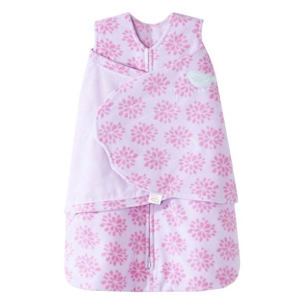 [寶媽咪親子館] 美國Halo Sleepsack 防踢包巾背心兩用 HA-10245 粉紅花朵刷毛款S號
