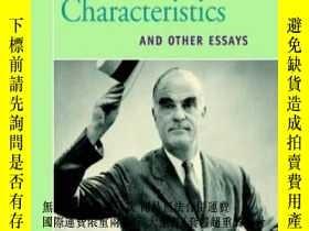 二手書博民逛書店American罕見Characteristics And Other EssaysY255562 Wilde