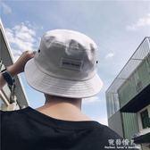 韓版夏季男士百搭時尚漁夫盆帽子簡約刺繡貼標遮陽防曬帽潮流 完美情人精品館
