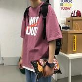 韓國sszo 夏季ins超火短袖T恤男潮牌5分袖韓版潮流百搭字母情侶裝衣服【居享優品】