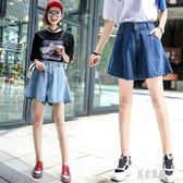 2019夏季新款休閒時尚牛仔短褲女寬鬆顯瘦學生藍色可愛褲裙子CC783【原創風館】
