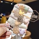 【NiNi Me】韓系髮飾 甜美可愛水晶串珠卡通造型髮束 髮束 H9508