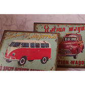 巴士汽車麻布畫壁畫壁飾掛飾-達可家居