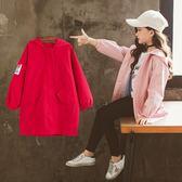 女童秋裝十兒童12歲15大童洋氣風衣正韓女孩秋季外套潮-BB奇趣屋
