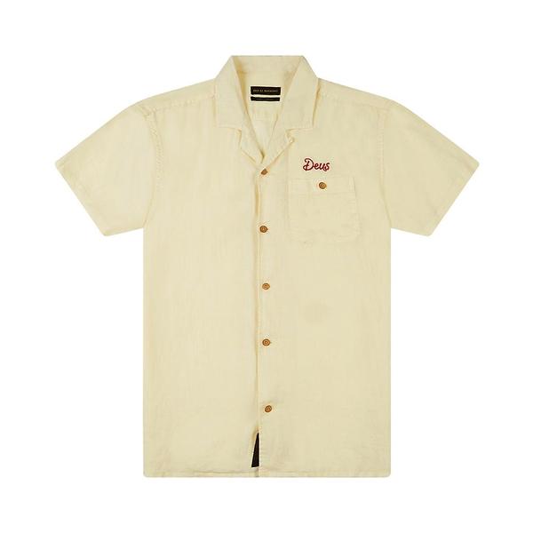 Deus Ex Machina Dean Linen Ss Shirtt 短袖襯衫-米 (男)
