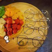 裝飾眼鏡/復古文藝女百搭可愛細框圓形鏡架「歐洲站」