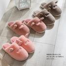 棉拖鞋女士家用秋冬室內居家居可愛情侶厚底...