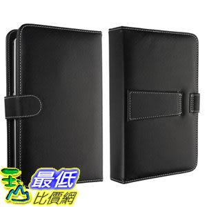 [美國直購 ShopUSA] 7 Tablet Stand with USB Keyboard - Black Faux Leather Carrying Case $761