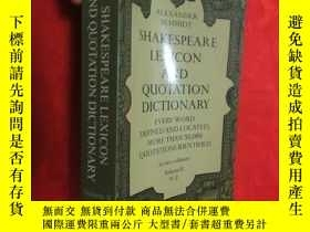 二手書博民逛書店Shakespeare罕見Lexicon and Quotation Dictionary, Vol. 2 (小1