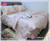 雙人加大【兩用被套+薄床包】(6*6.2尺)/高級四件式100%純棉雙人『浪漫約定』粉色☆*╮