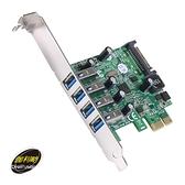 伽利略 PTU304N PCI-E USB 3.0 4 Port 擴充卡 Renesas-NEC