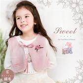 柔軟絨毛綁帶背心-小公主造型加分(260496)★水娃娃時尚童裝★