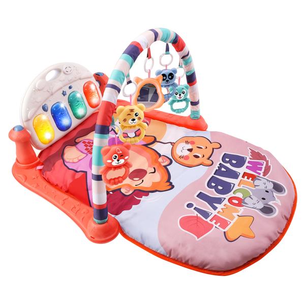 嬰兒早教健身架踢踢琴 健力架腳踏鋼琴遊戲毯-JoyBaby