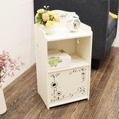 床頭櫃迷妳組裝兒童收納置物架簡易窄櫃臥室卡通小型床邊小櫃子 生日禮物 創意