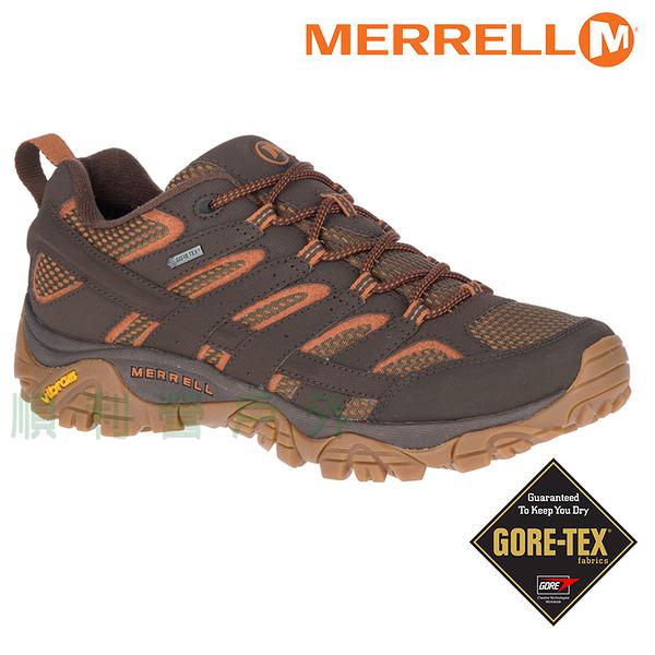 美國MERRELL MOAB GORE-TEX 男款低筒防水健行鞋 65461 咖啡 登山鞋 OUTDOOR NICE
