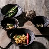 日式湯碗拉面碗斗笠碗大號復古細陶黑棕色家用陶瓷餐具個性瓷碗 卡卡西