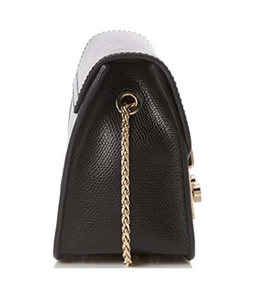【雪曼國際精品】Furla Julia Mini Crossboday Bag 經典金色練小方包 黑色