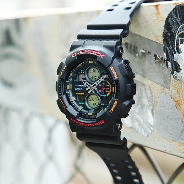 CASIO 卡西歐 G-SHOCK 90年代音響概念手錶 GA-140-1A4