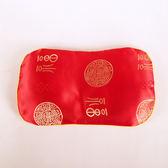 新生嬰兒紅色綢緞蠶沙訂型枕頭初生寶寶用品決明子去火矯正防偏頭 英雄聯盟
