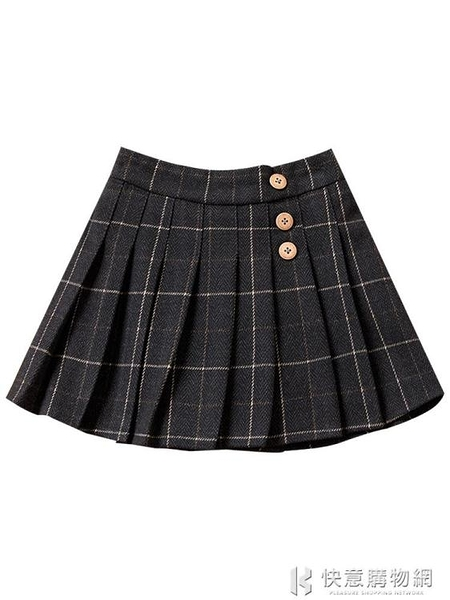 兒童裙子系列 女童半身裙百褶裙秋冬2020新款兒童洋氣格子百搭短裙女孩外穿裙子 快意購物網